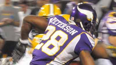 Adrian Peterson of the Minnesota Vikings. Courtesy: MGNOnline