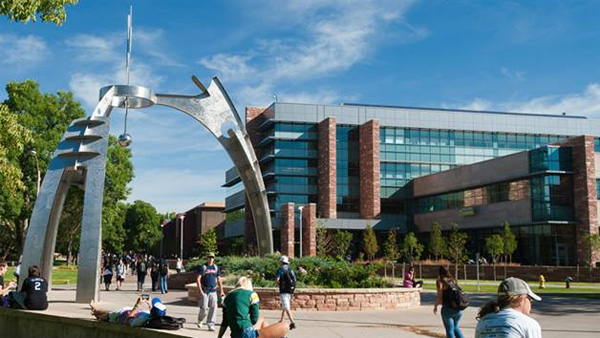 Students walk on the campus of Colorado State University in Fort Collins. (Photo: Facebook / Colorado State University)