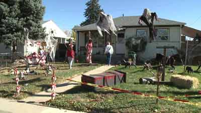 Haunted House on Floyd St. in Englewood, Colo.