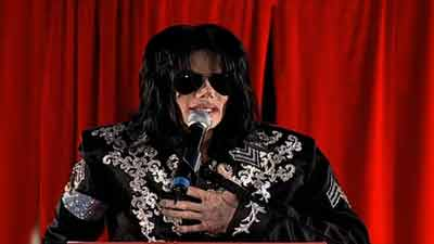"""(FILE PHOTO) Michael Jackson announces his new concert series """"This Is It"""" in London on March 5, 2009. Photo: CNN"""