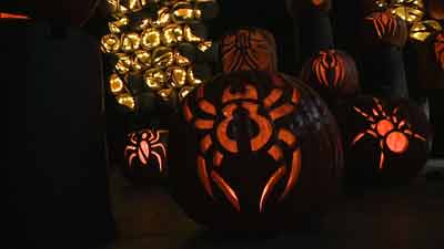 Masterpiece pumpkin carvings