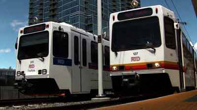 RTD light rail trains