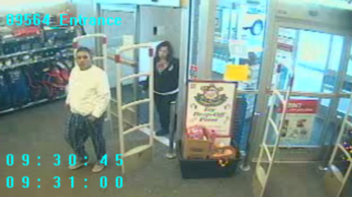 Loveland Police identified these two unknown individuals as persons of interest in a string of vehicle thefts in Loveland on Dec. 30, 2013. (Photo: Loveland Police Department)