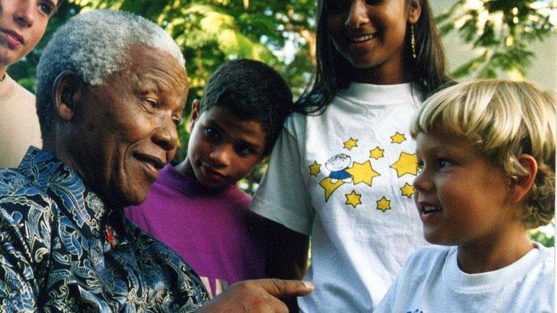 Jose Maria de Sacadura Botte shares these photos of their son, Stefano, with Mandela as a young boy.