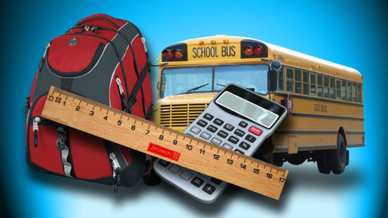 Back to school sales tax exempt