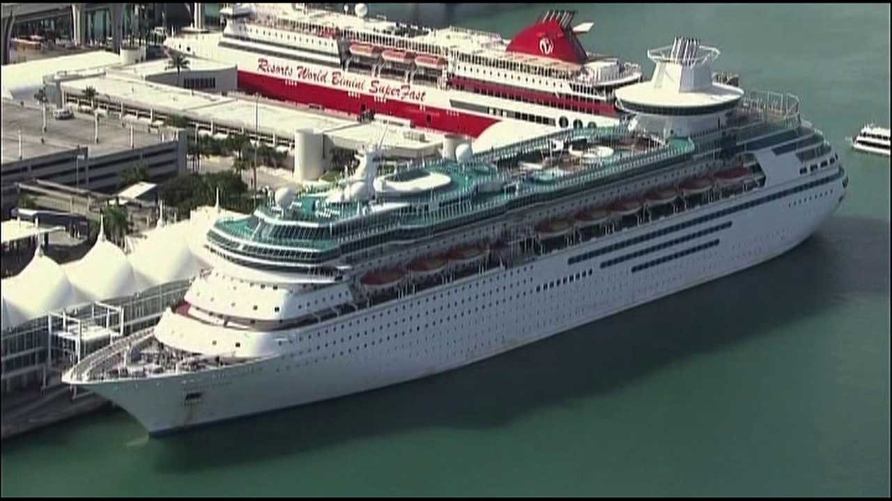 The Royal Carribean ship Majesty of the Seas was forced to return to port after passengers got sick.