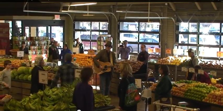 A Longmont flash mob in December 2013 sparked an increase in donations for a local nonprofit. (Photo: YouTube)