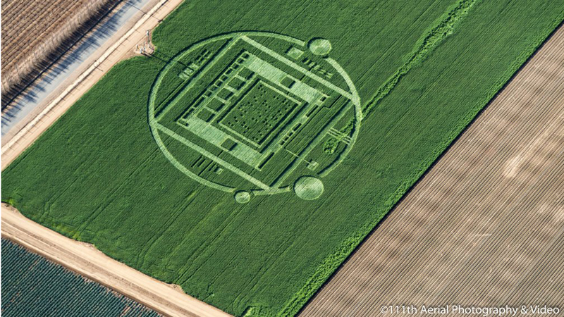A crop circle appeared on a 2,000-acre farm outside the tiny town of Chualar, 10 miles southeast of Salinas.