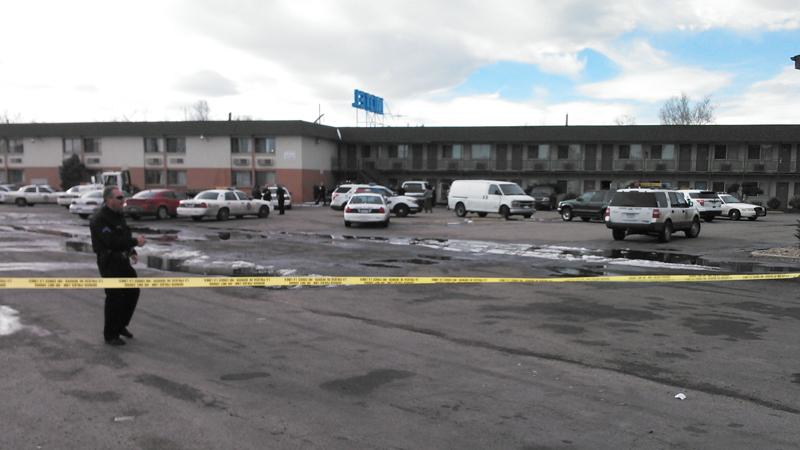 Denver police investigating a shooting in N. Denver Jan. 9, 2014.