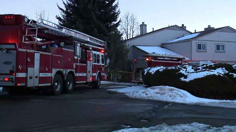 Fire crews responded to an explosion at a condo in Aurora on Feb. 8, 2014. (Photo: KDVR)