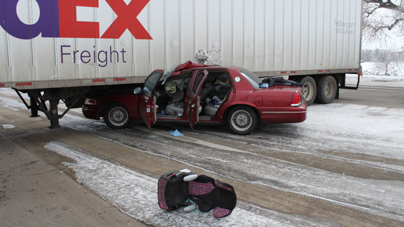 FedEx semi accident