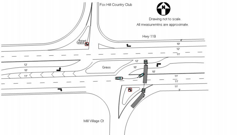 Longmont police said the intersection was clearly posted, as displayed on this diagram. (Photo: LPD)