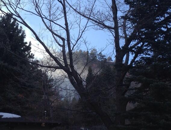 Flagstaff Mountain grass fire in Boulder. Photo: Kami Carmann