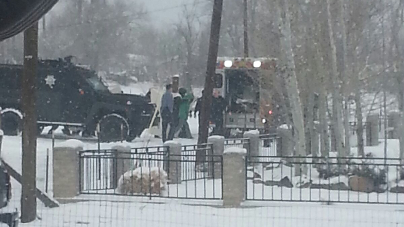 Hostage in Arvada was released shortly after 11 a.m. on Feb. 4, 2014. (Photo: KDVR viewer)