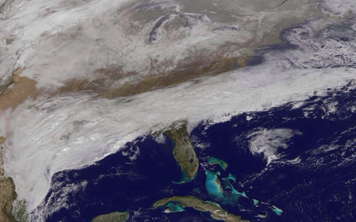 NASA image of the giant storm threatening the SE, eastern US