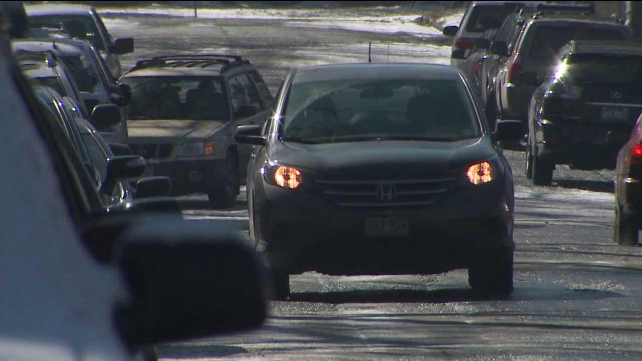 Crowded parking on streets around Denver Trader Joe's