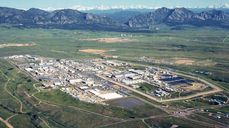 Rocky Flats Nuclear Weapons plant, July 1995. Photo: U.S. Department of Energy