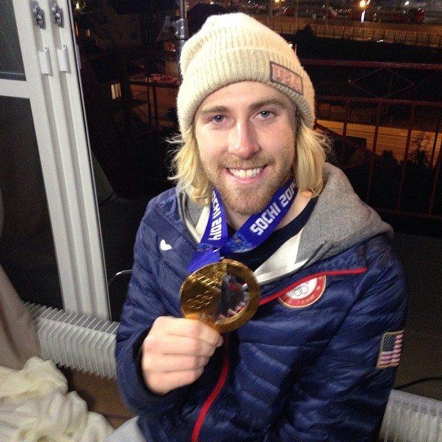 The US golden boy Sage Kotsenburg in our studio on Monday, February 10, 2014. Kotsenburg won an unexpected gold medal Saturday in men's slopestyle.