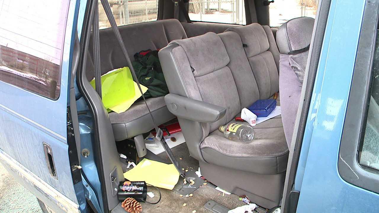 Stolen van recovered in bad shape
