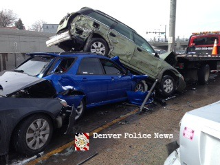 1 killed in multi-car crash at I-25, Logan Street