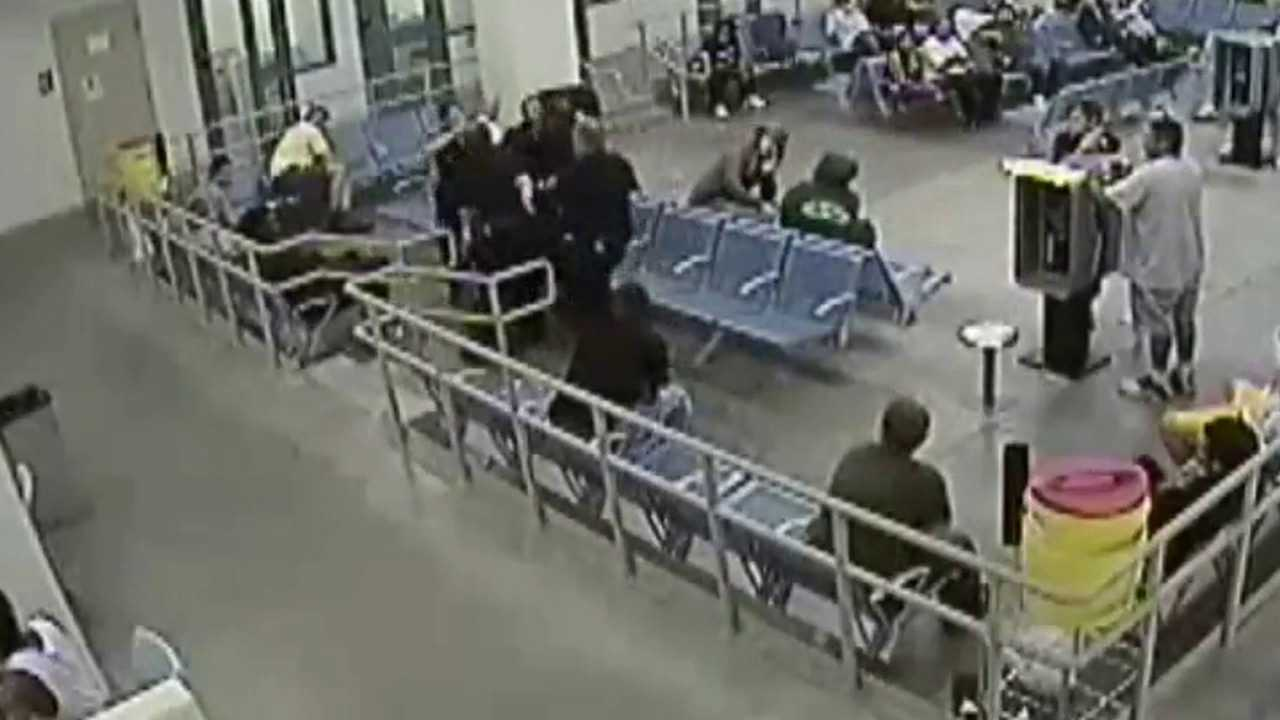 Surveillance video of Denver deputies struggling with Marvin Booker in July 2010