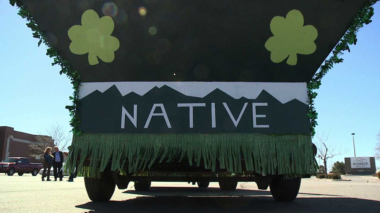 EcoTech's 'green float' for St. Patrick's Day