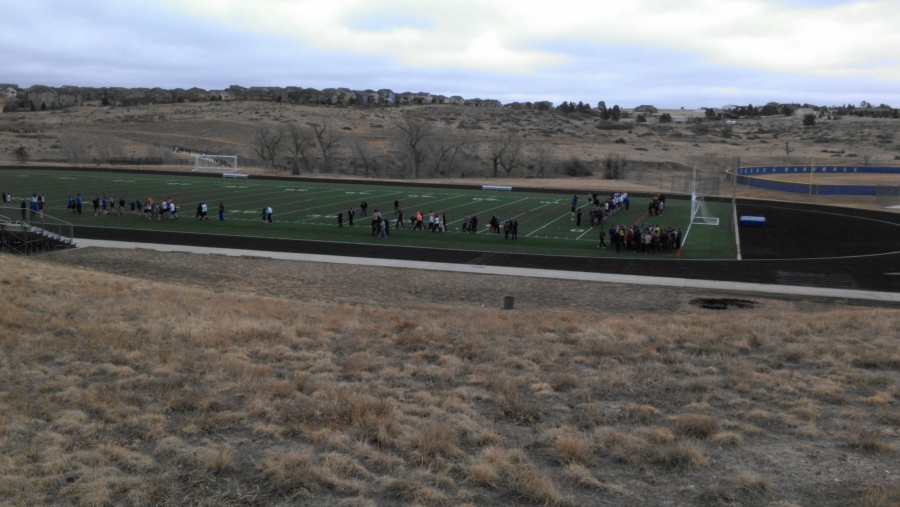 Students from Legend High School were evacuated to Cimarron Middle School Friday March 7, 2013.