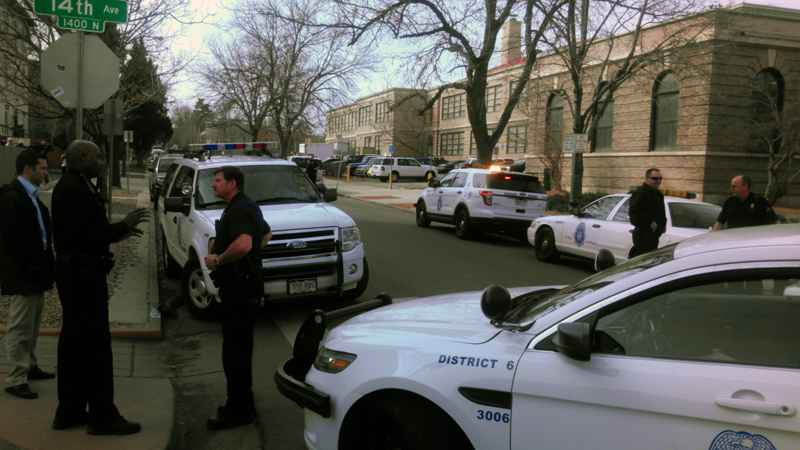 Denver police investigating a report of a threat made at Morey Middle School in Denver.