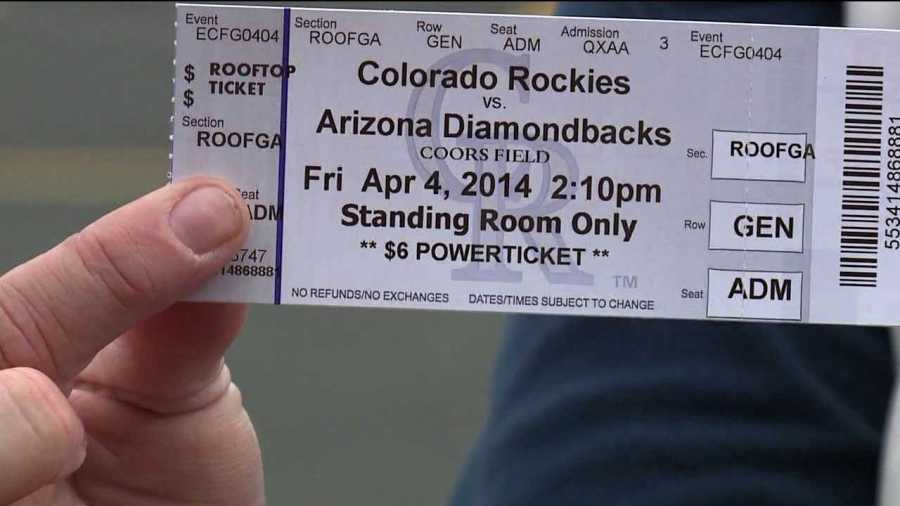 Colorado Rockies fans lined up on March 22, 2014 to purchase Opening Day tickets. (Photo: KDVR)