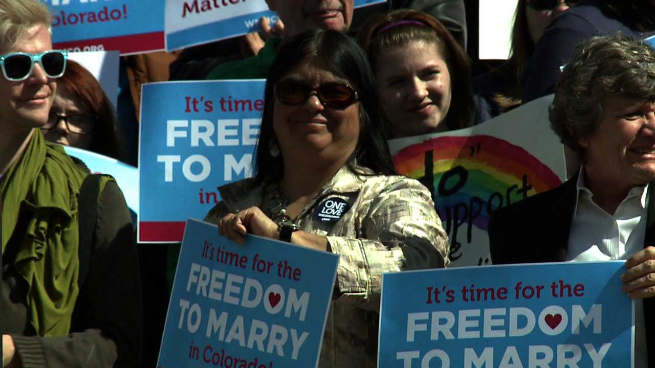 Rally at Capitol supports gay marriage in Colorado