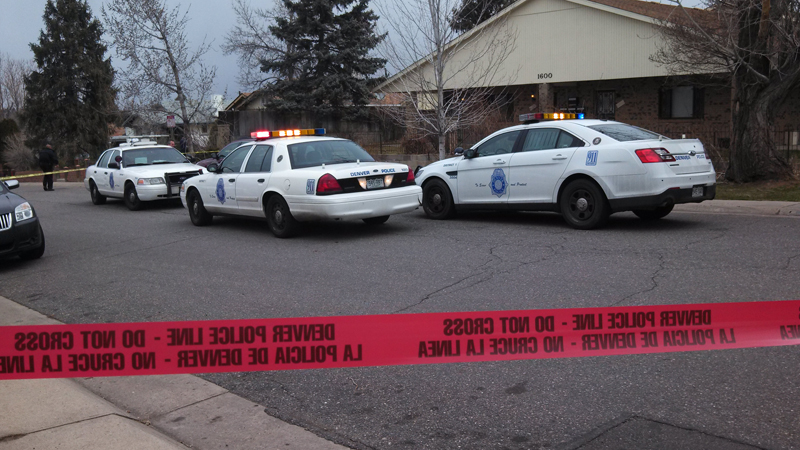 Denver police responded to a shooting in the 1600 block of Yates Street on March 18, 2014. (Photo: Kent Erdahl/KDVR)