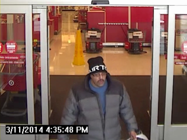 Lakewood police are looking for a suspect connected with fraudulent credit card transactions between Feb. 8 and March 14, 2014. (Photo: Lakewood Police Department)
