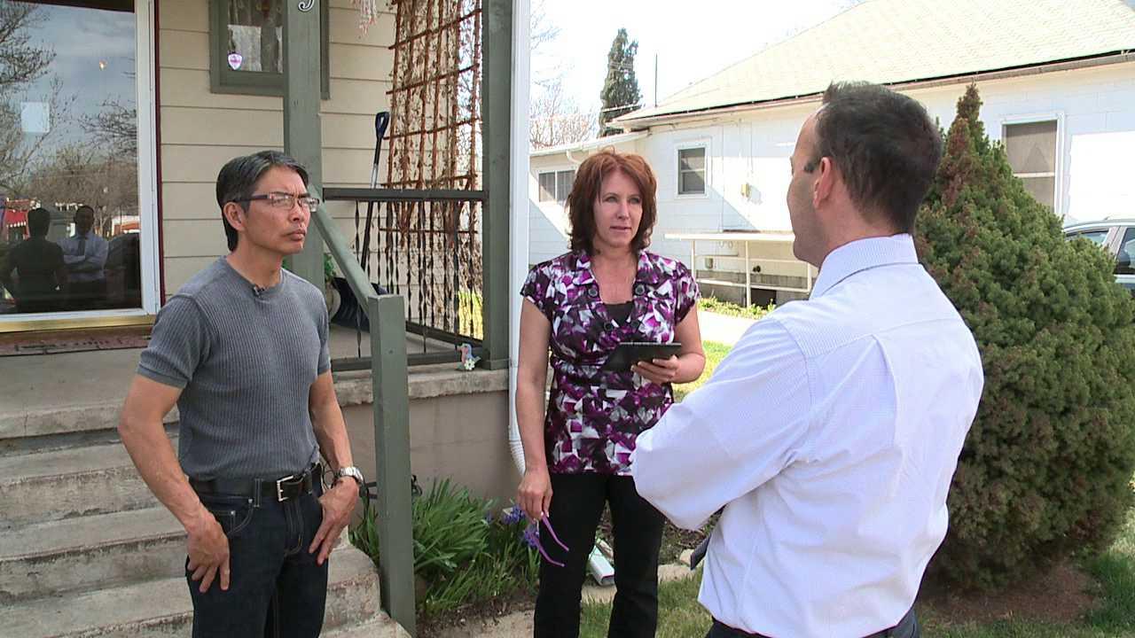 Joel Raguindin and Jenna Fox talk to FOX31 Denver reporter Justin Joseph
