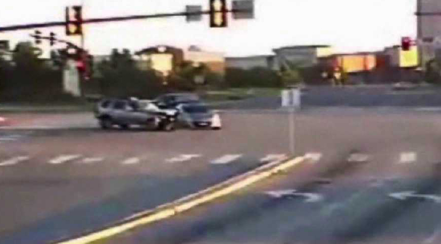 Video released showing crashes from red light cameras in Aurora. Courtesy: Aurora Police Department