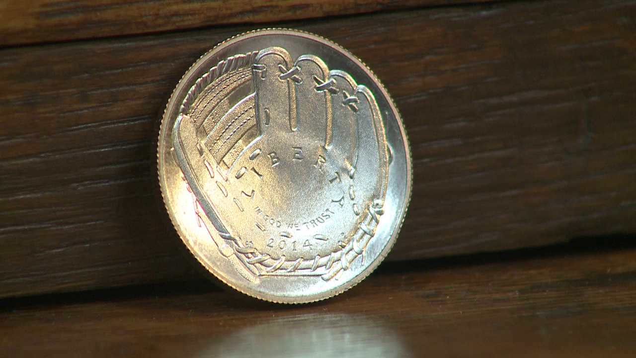 Baseball Hall of Fame commemorative coin made at Denver Mint