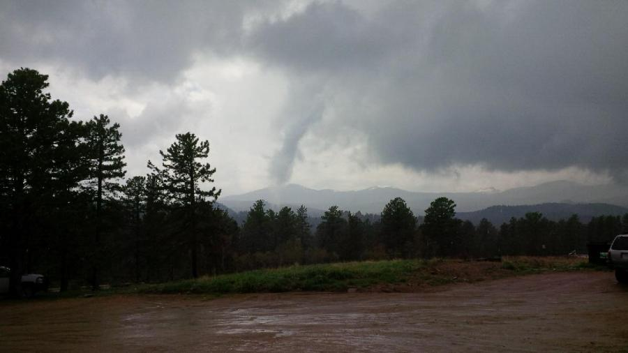 Red Feather Lakes Storm. Photo credit: Greg Lisco. Photo shot from Highway 74e near Potbelly Restaurant.