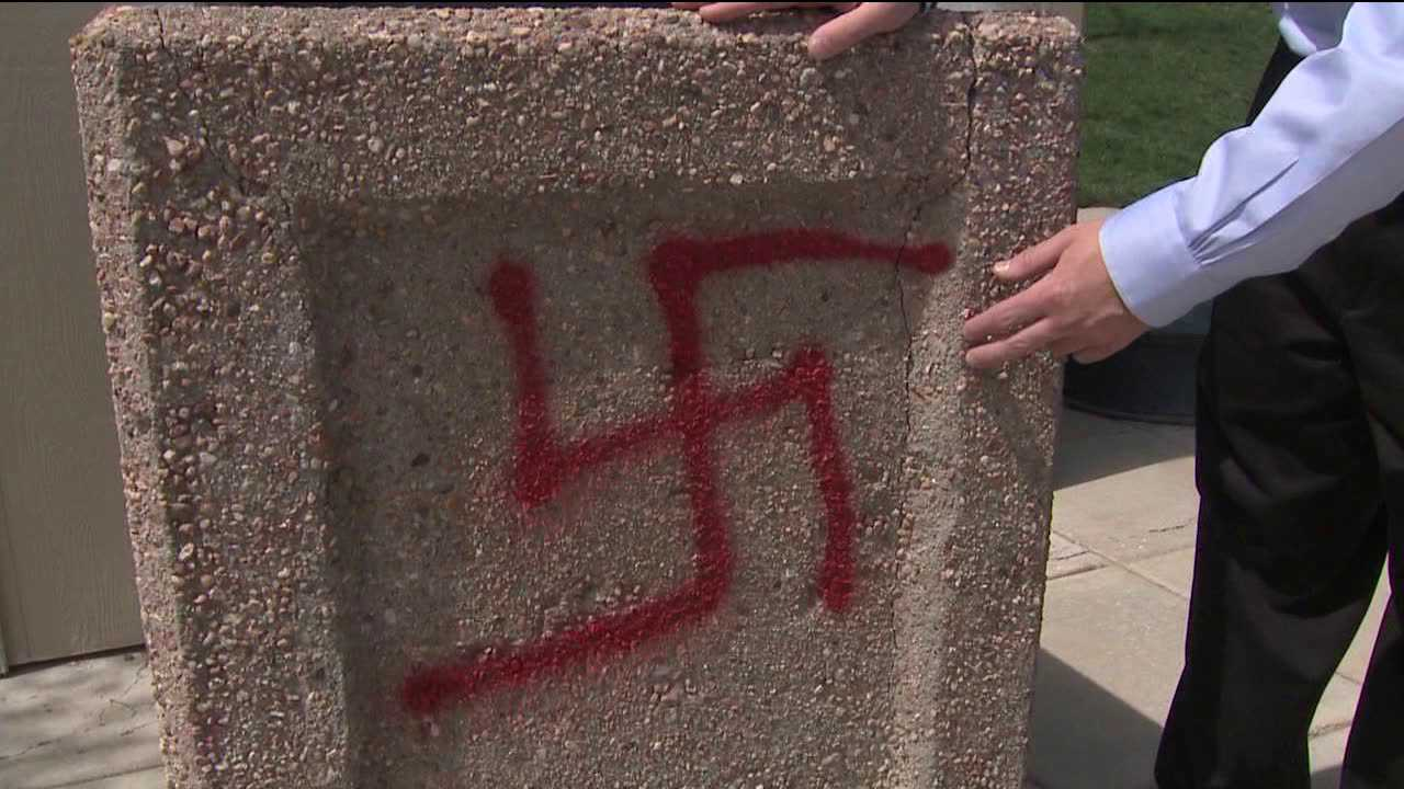 Vandals paint hateful messages in Foothills Park in Highlands Ranch, Colo.