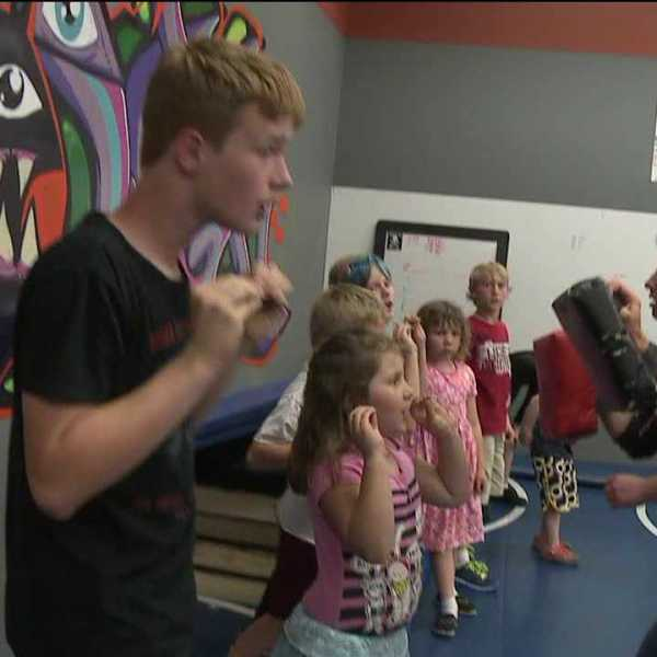 Anti-bullying class teaches kids to protect themselves
