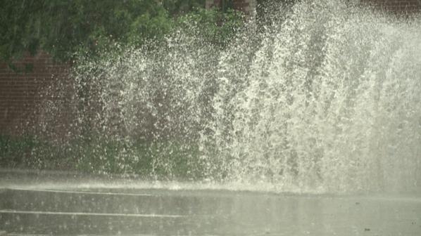 Big splash on Lincoln St. near downtown Denver. Photo: Noah Skinner