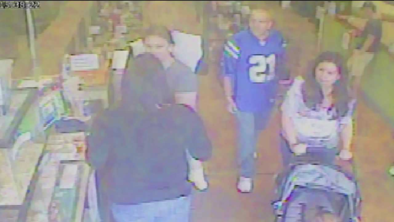 Surveillance video of the alleged puppy thieves.