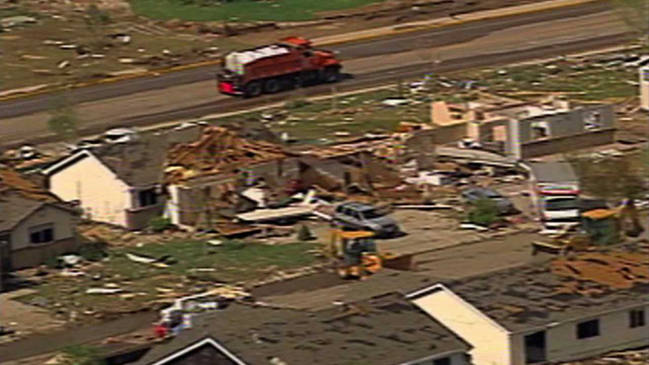 Tornado caused widespread damage in Windsor, Colo. May 22, 2008