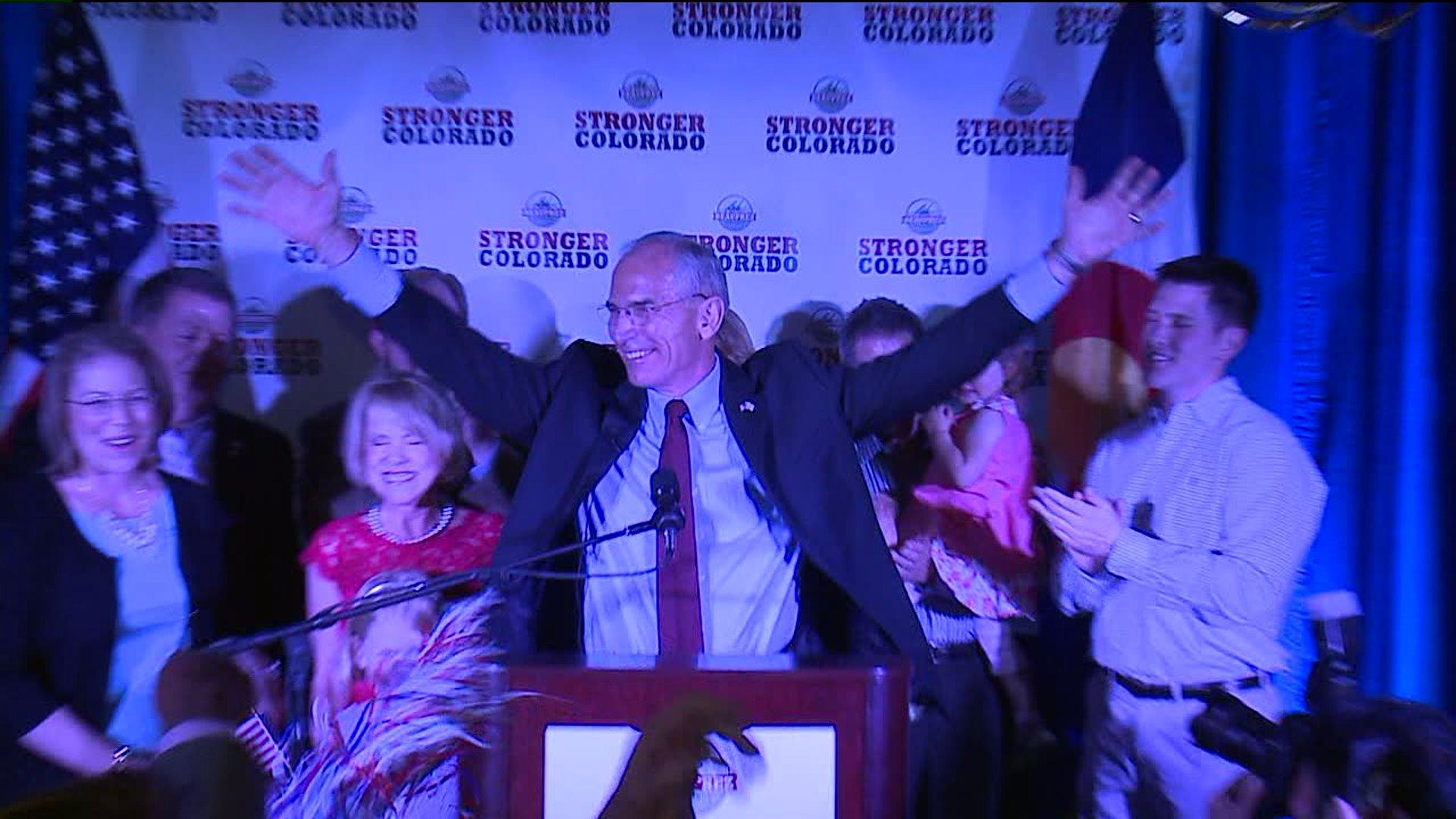 Bob Beauprez celebrates GOP gubernatorial nomination