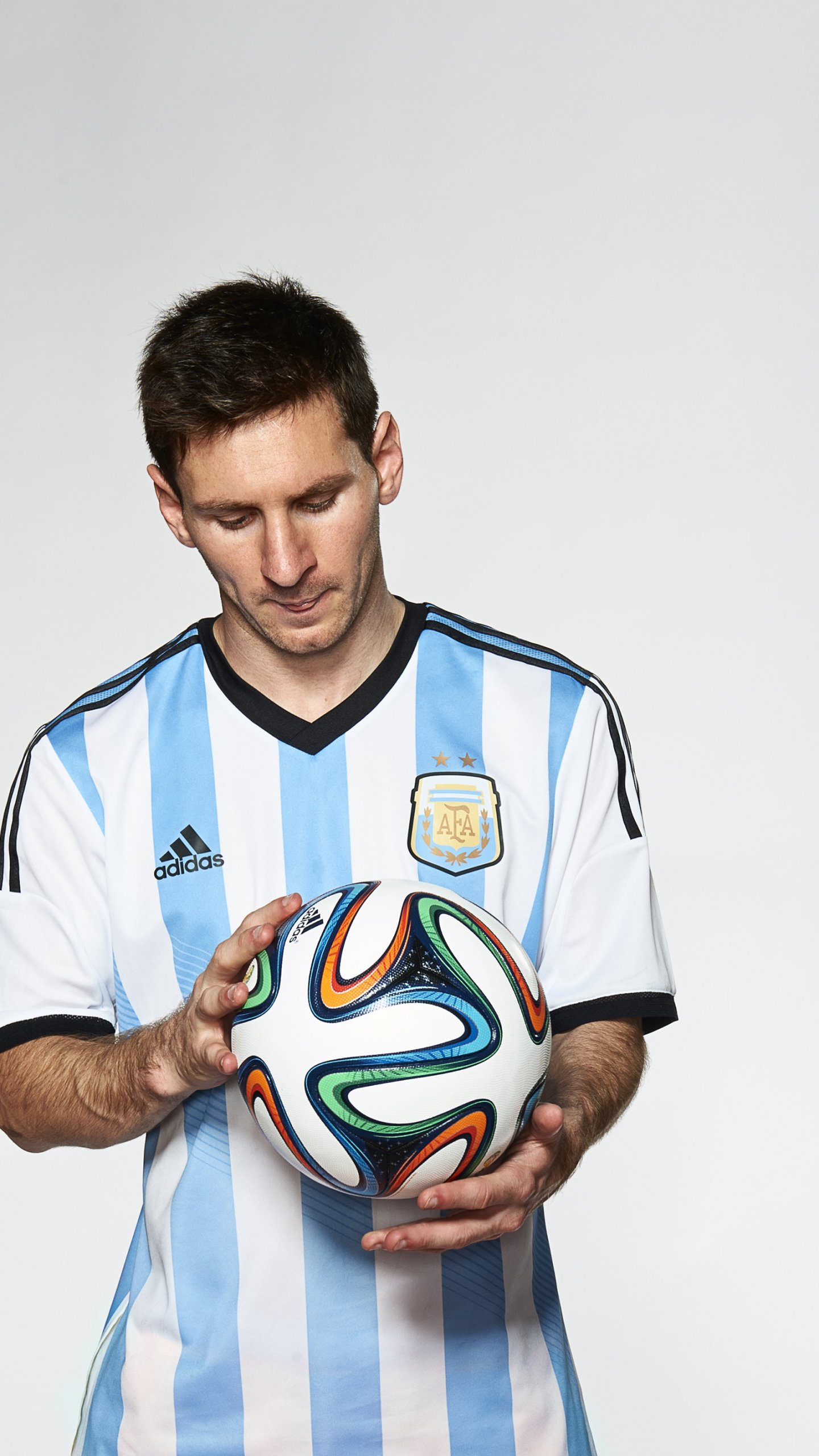 Meet the Brazuca -- the official World Cup match ball hoping not to score an own goal at Brazil 2014. Argentina hero Lionel Messi is pretty handy with the ball at his feet, and he was one of the players enlisted to test out the Brazuca for Adidas.