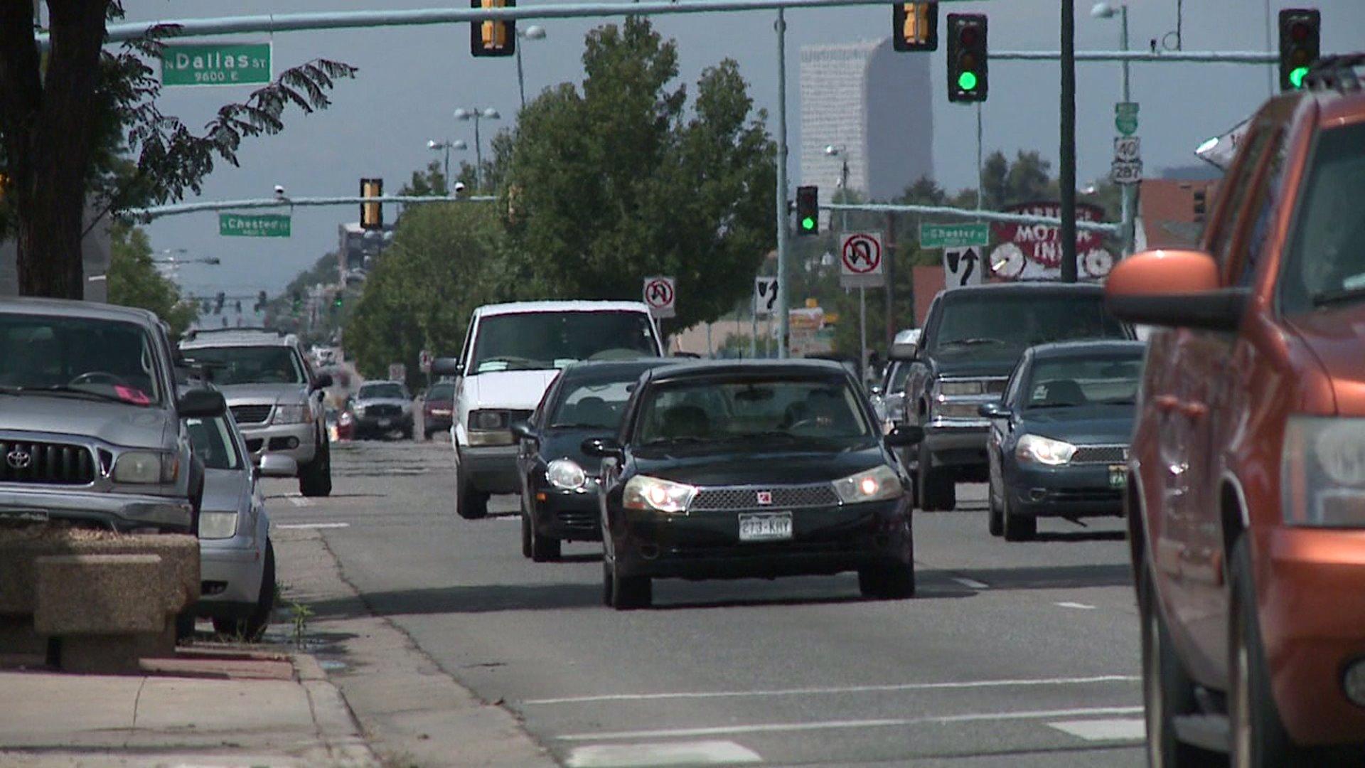Colfax Avenue traffic in Denver