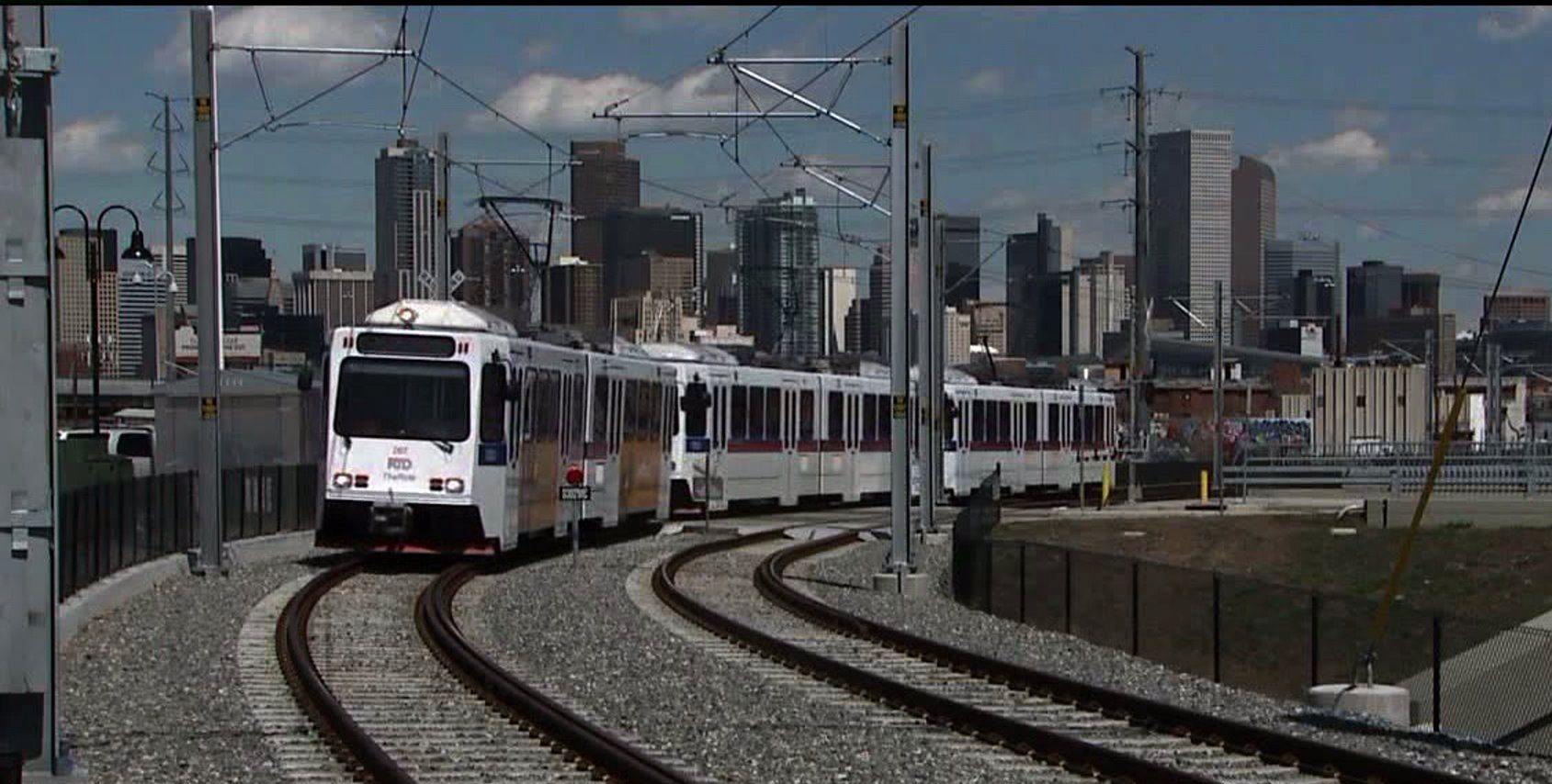 RTD light rail train in Denver