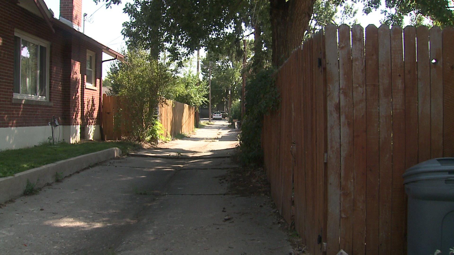Alley in Denver's Park Hill neighborhood