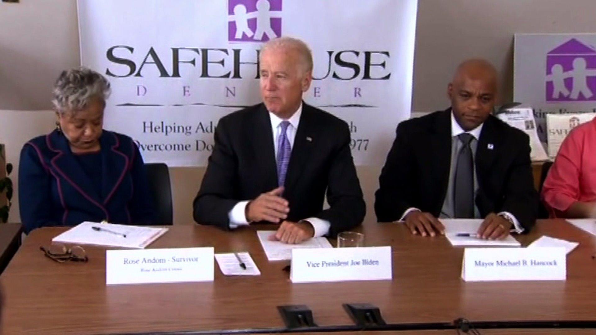 Vice President Joe Biden at domestic violence roundtable event in Denver