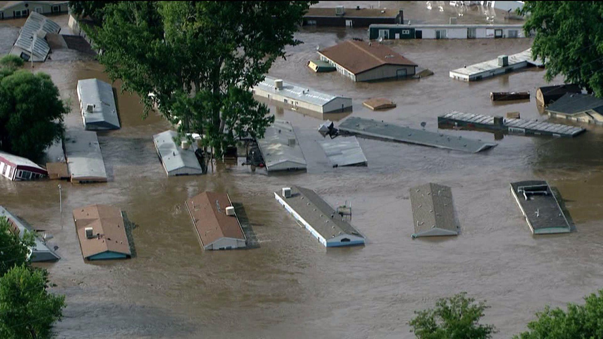 Flooding near Evans, Colo. Sept. 2013