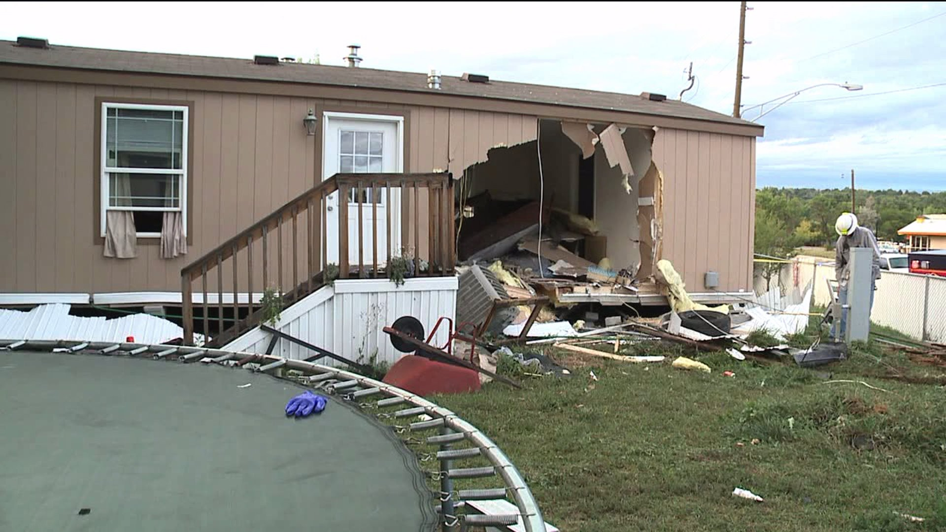 Home severely damaged when SUV crashes into it in Federal Heights, Colo.
