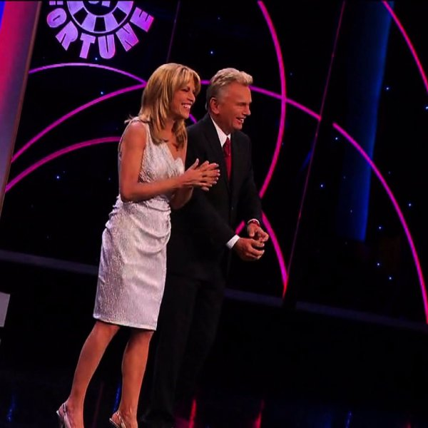 """Vanna White and Pat Sajak of """"Wheel of Fortune"""""""